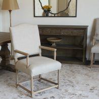 Natural Linen Arm Chair