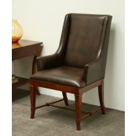 European Legacy Brown Leather Arm Chair