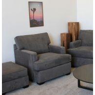 Slate Gray Micro Suede Club Chair