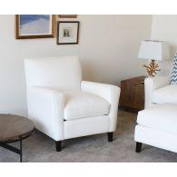 Modern White Denim Club Chair