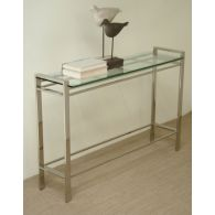 Mitchell Gold Emilio Console Table with Clear Glass Top