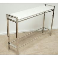 Mitchell Gold Emilio Console with White Marble Top