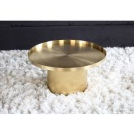 Titanium Gold Drum Coffee Table
