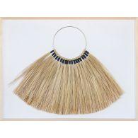 Bimini Framed Necklace Of Grass Fonds 40W X 30H