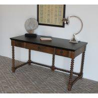 Spindle Oak Writing Desk