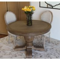 Weathered Oak Round Dining Table