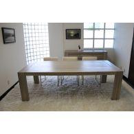 Messina Dining Table in Graywash Finish