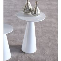 High Gloss White Medium Tower End Table