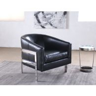 Mitchell Gold Avery Chair in Black Leather