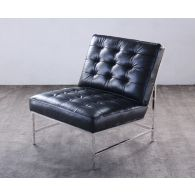 Mitchell Gold Major Chair in Black Leather