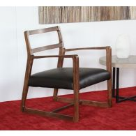 Vernal Lounge Chair with Espresso Leather Seat