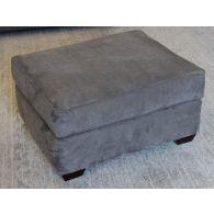 Slate Gray Micro Suede Ottoman