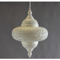 Large Off White Moroccan Lantern