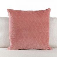 Rose Quilted Velvet Pillow
