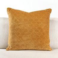Marigold Quilted Velvet Pillow