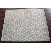 """7'9"""" x 9'9"""" Barbary Rug in Natural and Graphite"""