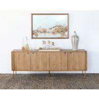 Danish Modern Natural Oak Sideboard With Brass Legs