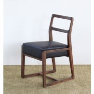 Vernal Dining Chair with Espresso Leather Seat
