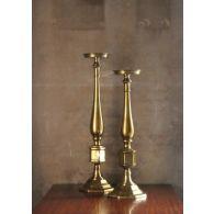 Set of 2 Brass Candlesticks