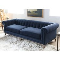 Griffon Tufted Sofa in Plush Navy