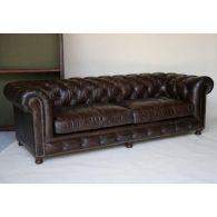 Cigar Leather Chesterfield Sofa