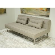 Light Gray Tweed Sectional Armless Sofa