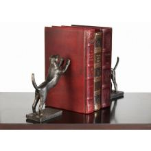 Pair of Bronze Leaning Hound Bookends