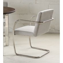 Mitchell Gold Hugo Arm Chair in Lingo Silver