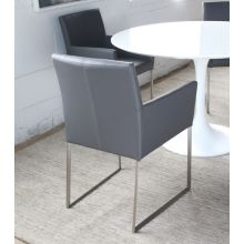 Gray Leatherette Arm Chair
