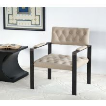 Boston Chair with Natural Tufted Linen Seat and Back