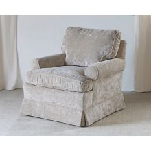 Skirted Club Chair In Shell