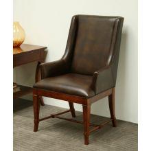 European Legacy Brown Leather Arm Chair