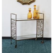 Brass Geometric Bar Cart