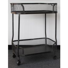 Industrial Steel Bar Cart