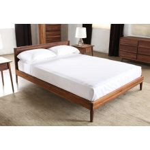 Vintage Queen Bed in American Black Walnut
