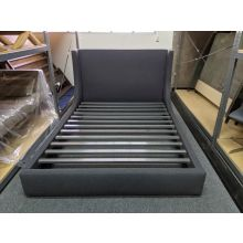 Modern Sleigh Queen Bed In Charcoal