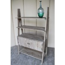 Natural Found Wood Bookcase with Cabinet