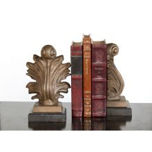 Pair of Bronze Acanthus Bookends