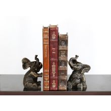 Pair of Bronze Elephant Bookends