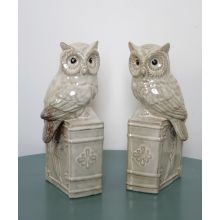 Pair of Ceramic Owl Bookends