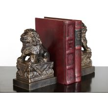 Pair of Bronze Foo Dog Bookends