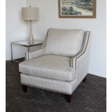 Contemporary Linen Club Chair