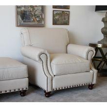 Natural Linen Club Chair