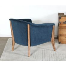 Barrel Back Club Chair in Azure