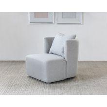 Maya Club Chair in Light Gray Fabric