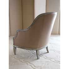 Oly Warner Chair in Dove Leather Upholstery