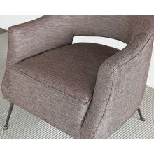 Adara Club Chair in Heathered Aubergine