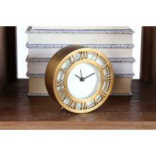 Antiqued Brass Roman Numeral Clock