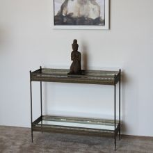 Antique Iron Moroccan Mirrored Console