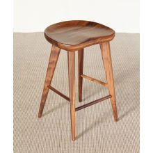 Walnut Counter Stool with Tapered Legs